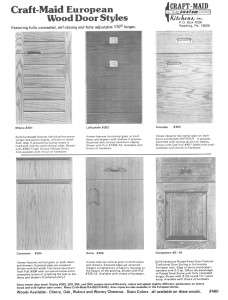 European Wood Door Styles